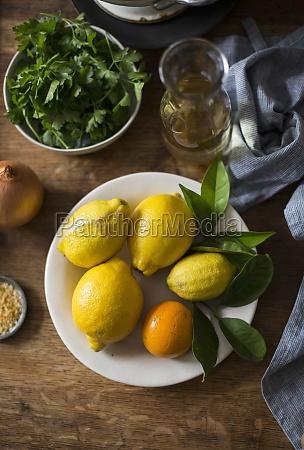 lemon, , orange, , and, fresh, herbs - 29885237