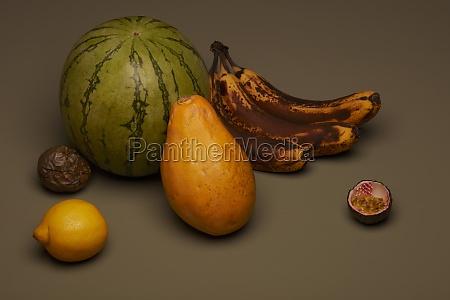naturaleza muerta de la fruta con