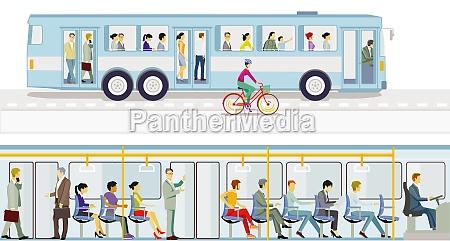 conducir, en, el, autobús, con, transporte - 29913119