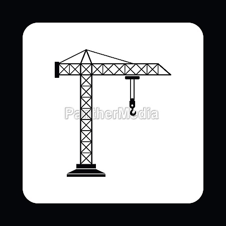 icono de la grua estilo simple