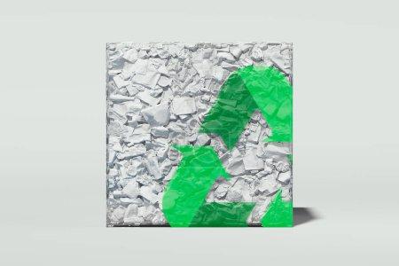 verde triangulo blanco elemento disenyo aislado