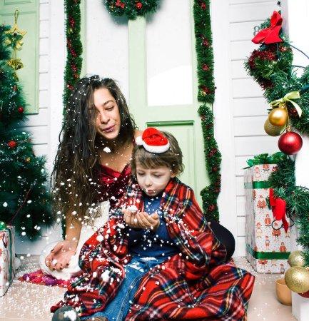 ocio rojo blanco regalo celebracion navidad