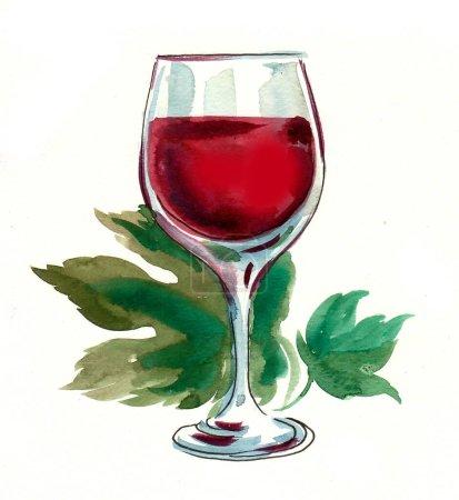 rojo, ilustración, vidrio, arte, hoja, bebida - B378822870