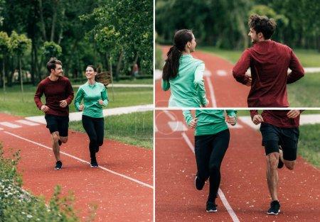 Deporte, actividad, chica, Sonriendo., parque, aire libre - B381818100
