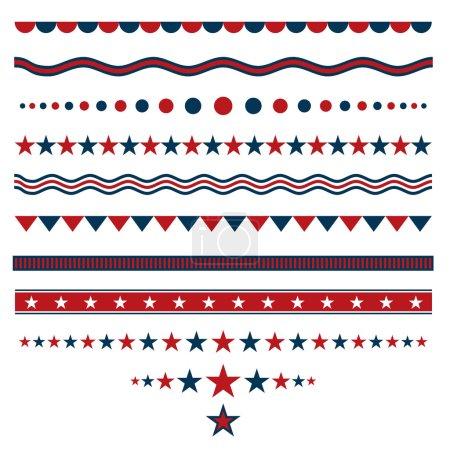 Ruptura, Rojo, blanco, Azul, vector, círculo - B72652315