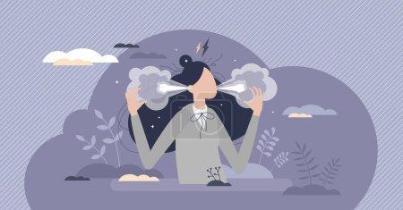 vector ilustracion persona hembra adulto escena