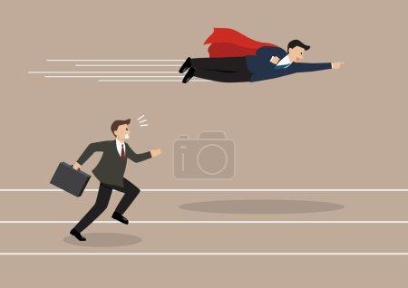 competencia, vector, competitivo, Ilustración, diseño, alta - B85721526